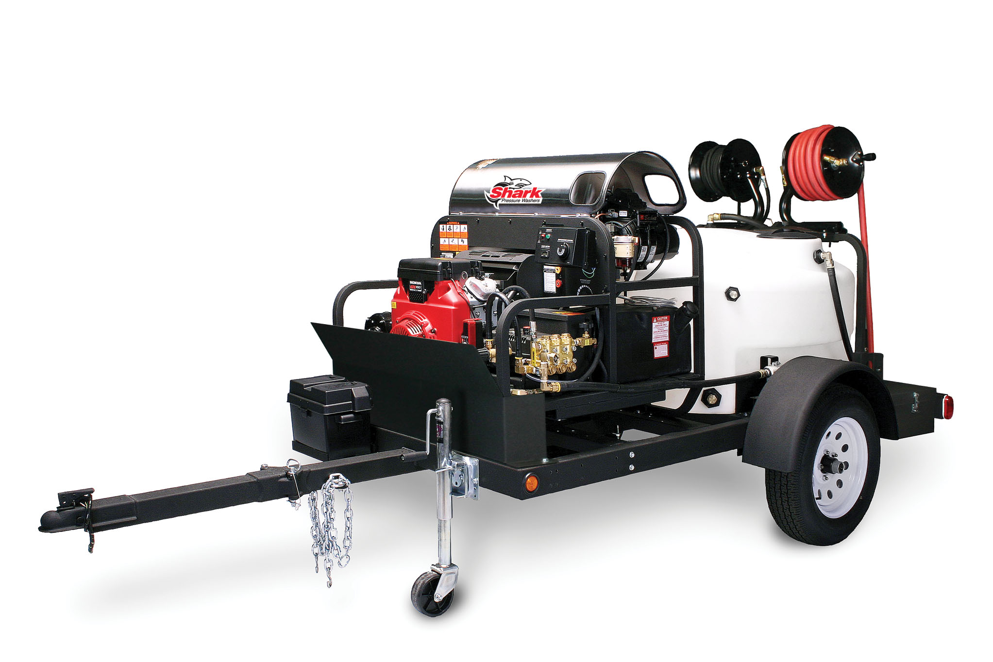 Mobile Wash Trailers: Single Axle Trailer Pressure Washers Image